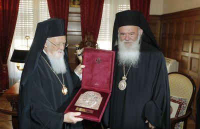 Συνάντηση Αρχιεπισκόπου με τον Οικουμενικό Πατριάρχη VIDEO & FOTO