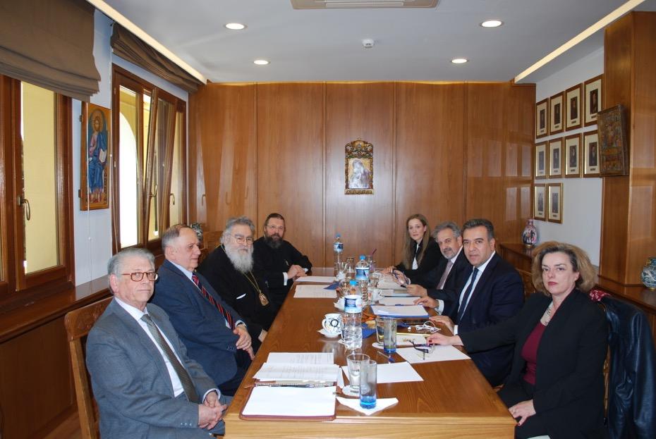 Κοινή συνάντηση του Τομέα Τουρισμού της Νέας Δημοκρατίας με το γραφείο Προσκυνηματικών Περιηγήσεων της Εκκλησίας της Ελλάδος