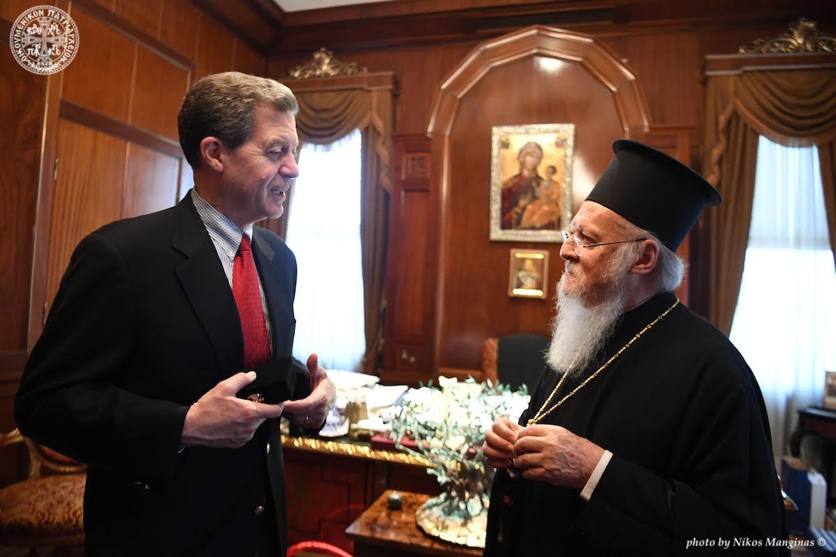 Επίσκεψη του Πρέσβη Samuel Brownback, επικεφαλής της υπηρεσίας θεμάτων διεθνούς θρησκευτικής ελευθερίας των ΗΠΑ,  στο Οικουμενικό Πατριαρχείο FOTO