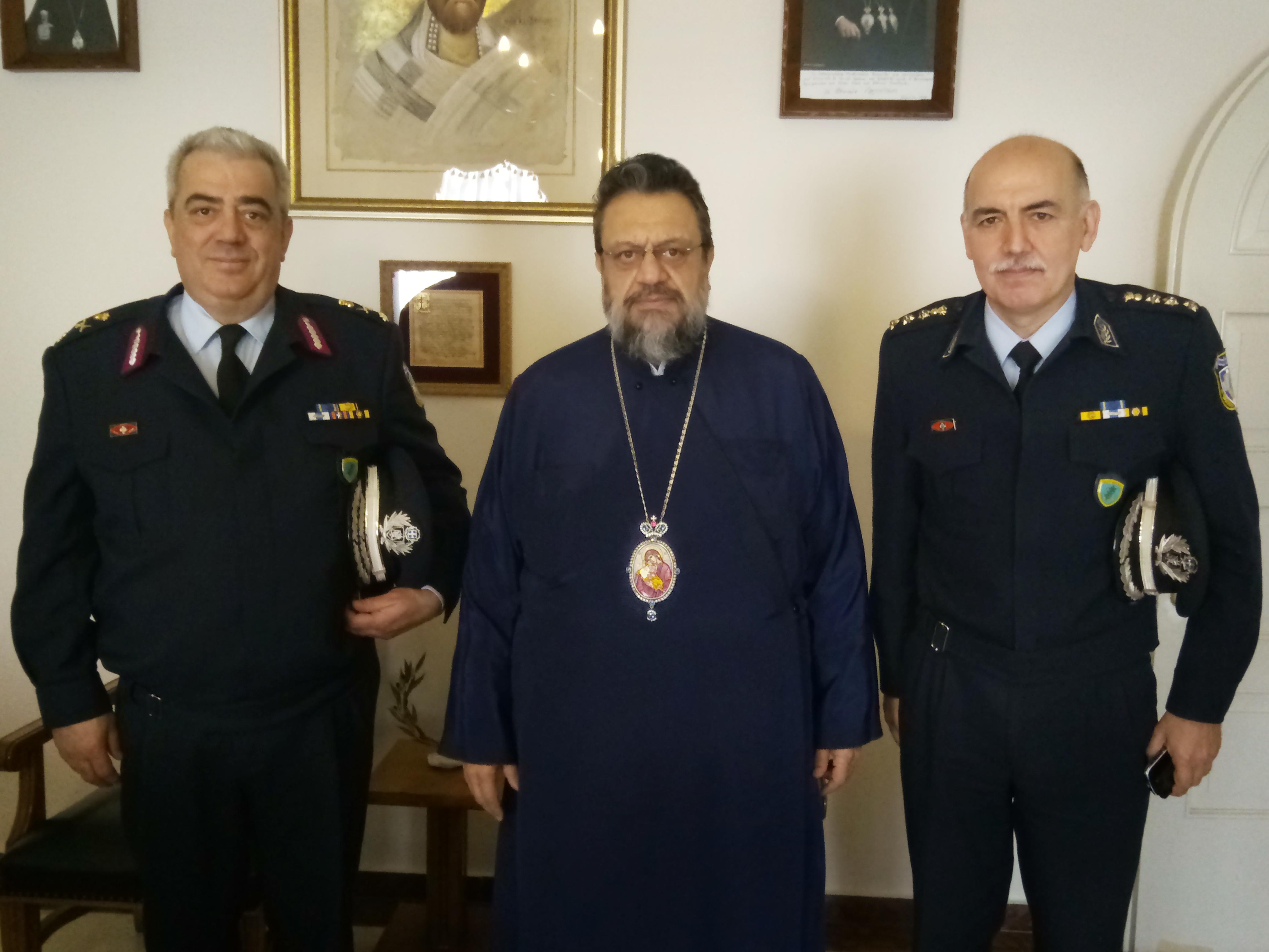 Τον Σεβ. Μητροπολίτη Μεσσηνίας κ. Χρυσόστομο επισκέφθηκε ο νέος Γεν. Περιφερειακός Αστυνομικός Δ/ντής Πελοποννήσου Ταξίαρχος Ευάγγελος Φωτόπουλος