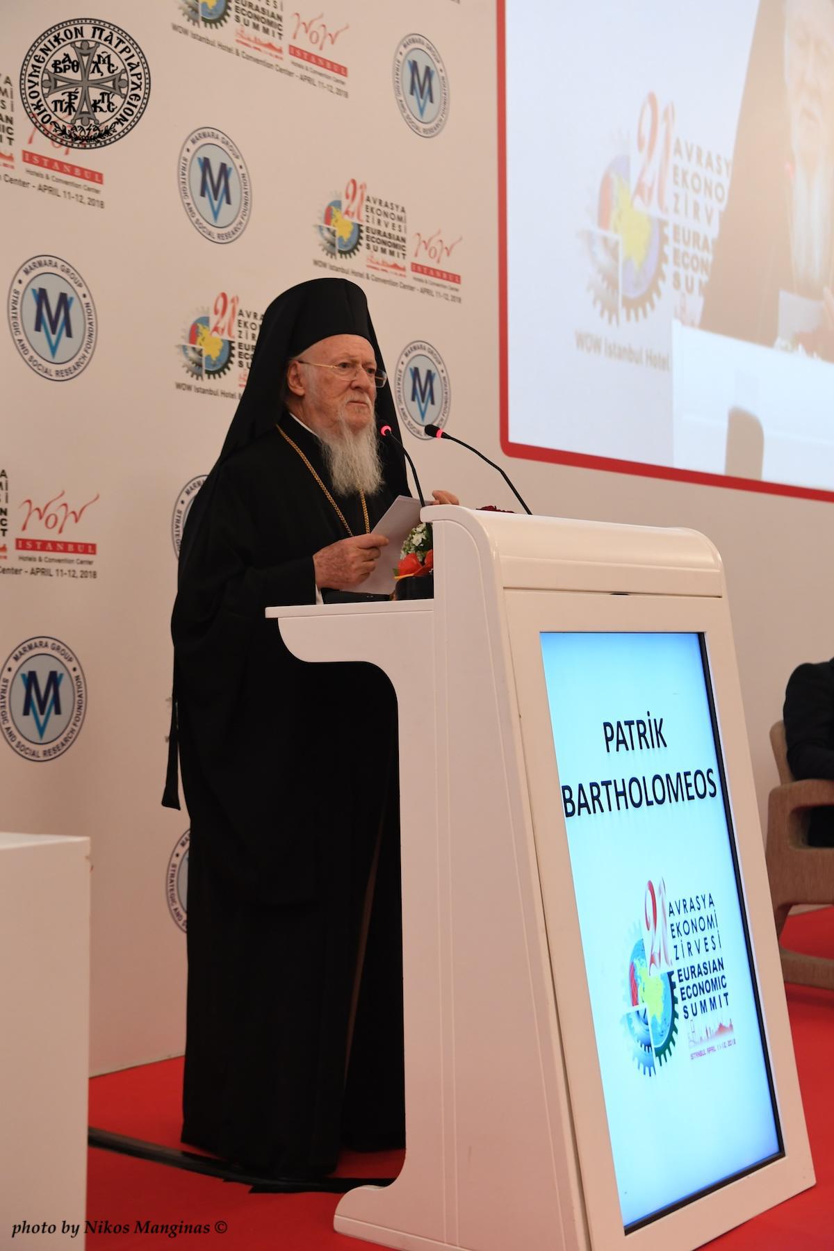 Ο  Οικουμενικός Πατριάρχης ομιλητής στην 21η Ευρασιατική Οικονομική Διάσκεψη FOTO